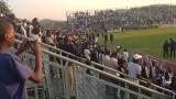 Tears, stampede at Mandava Stadium