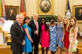 U.S. President, Donald Trump Hosts Two Chibok Girls