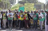 Zanu PF supporters fight at chaotic ED peace march, Harare rally