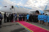 Air Tanzania Boeing 787-8 Dreamliner Lands in d'Salaam