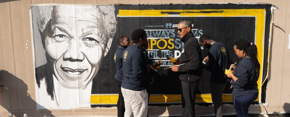 Barack Obama Gives Advice to Up-and-Coming Leaders in South Africa