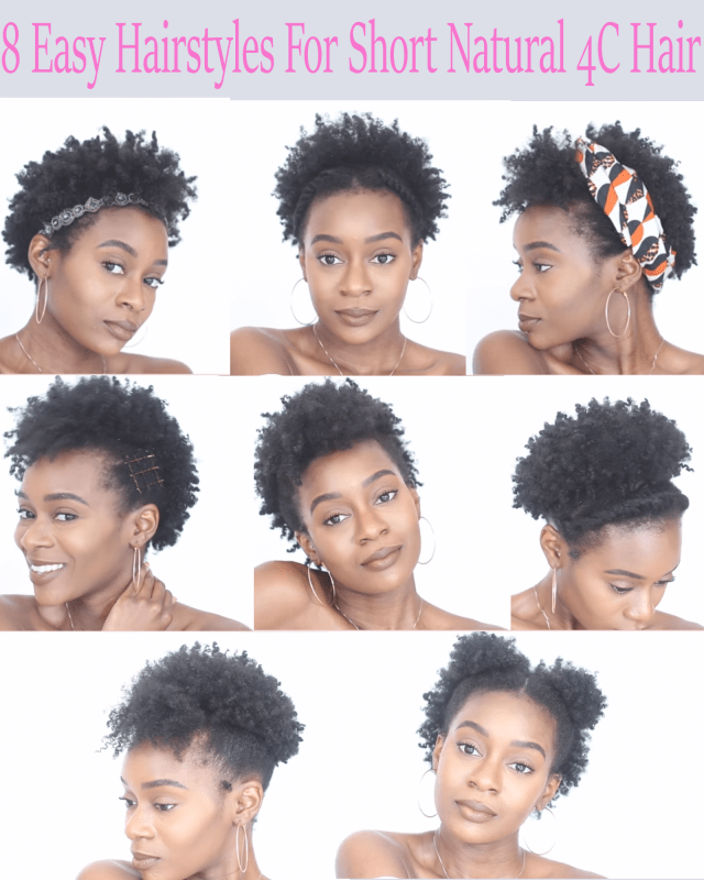 8 easy protective hairstyles for short natural 4c hair that
