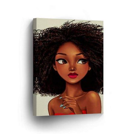 Cute African Girl Curly Hair
