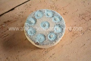 Glass powder in moulds