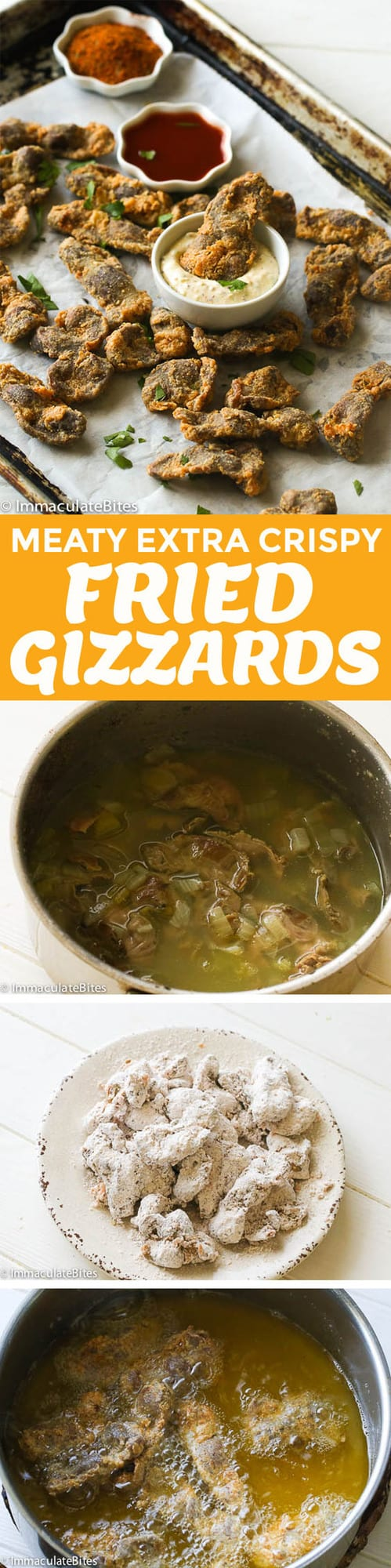 fried gizzards with cooking steps