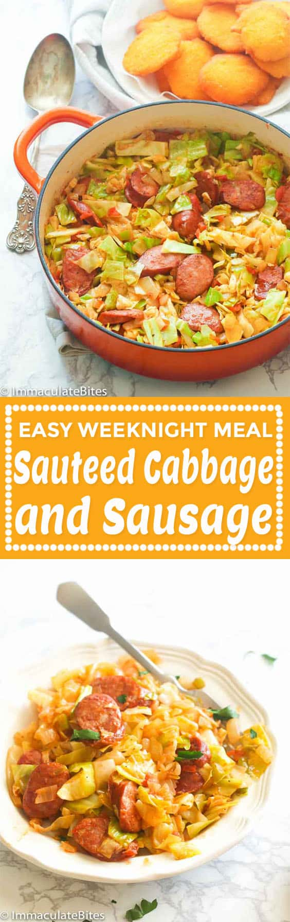 Sauteed Cabbage and Sausage.