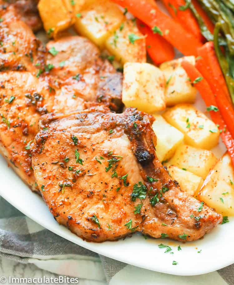 A toaster oven is more energy efficient than a regular oven, and lets you brown food better than a microwave. Oven Baked Pork Chops Immaculate Bites