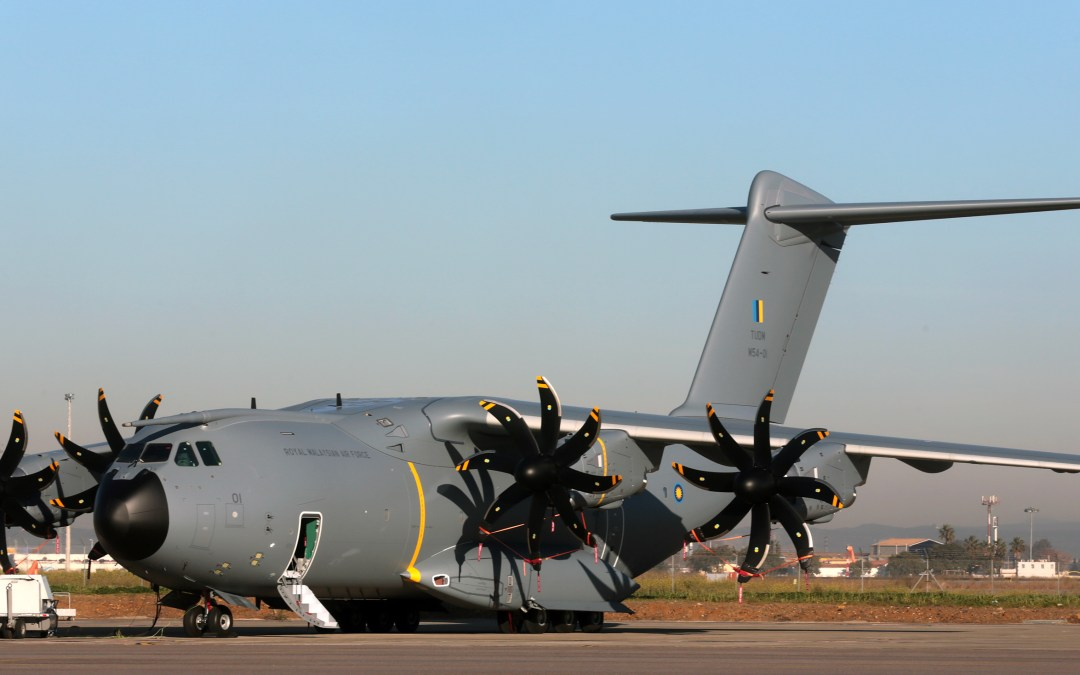 First Airbus A400M airlifter for Malaysia rolled out of paintshop