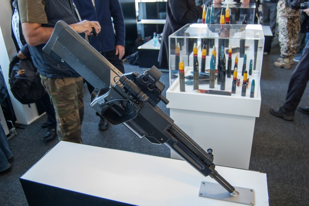 Denel PAW20 hand-held 20mm large gun, intended as a support weapon for infantry squads. ADR/DARREN OLIVIER