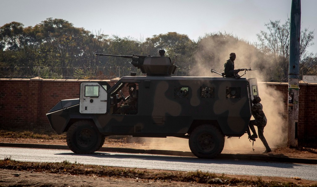 Zimbabwean Presidential Guard identified at Harare election