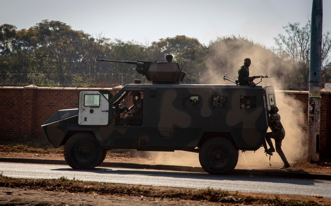 Army moves in on Zimbabwe election protestors