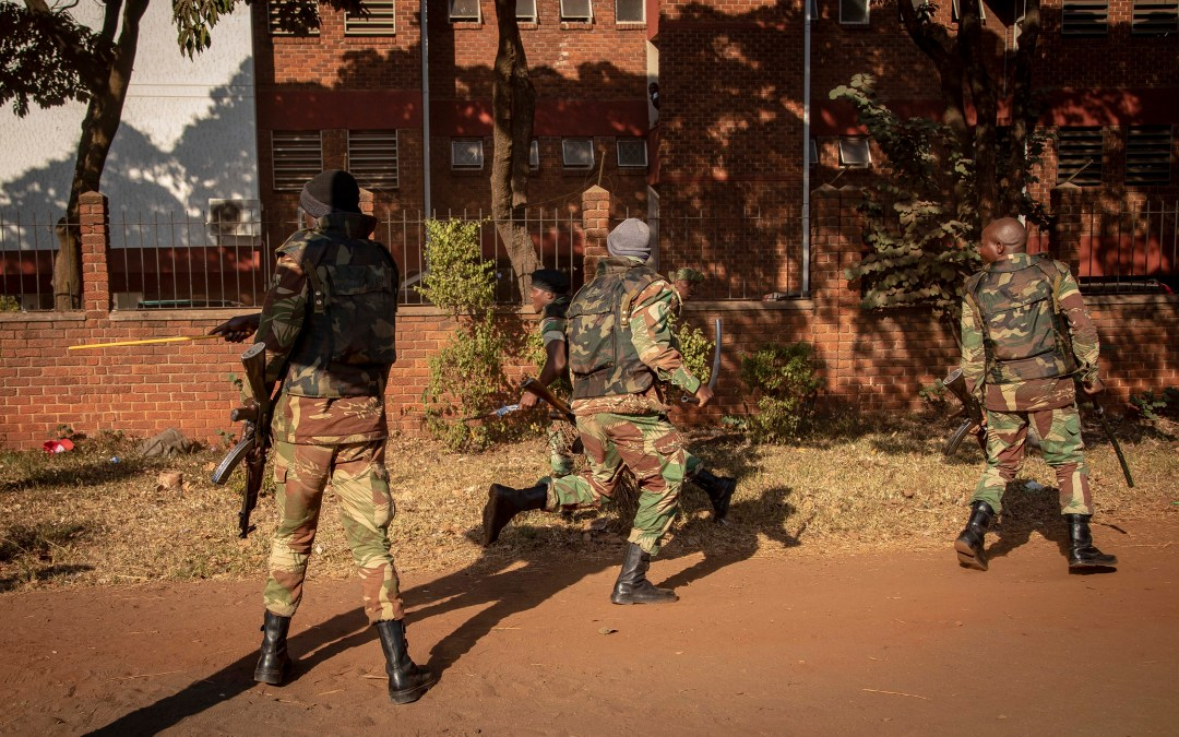 Zimbabwean Presidential Guard identified at Harare election shootings