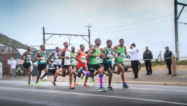 Lead runners, Two Oceans Marathon 2015.