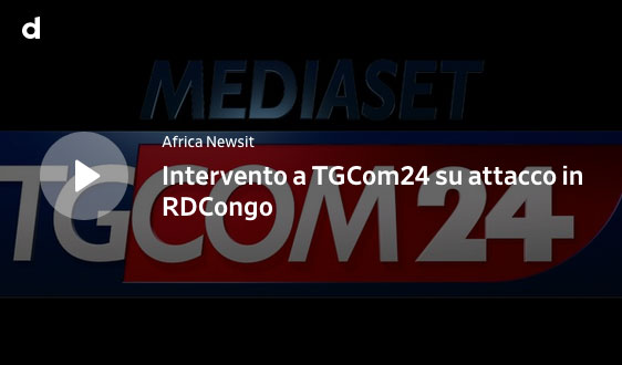 Screenshot del video in cui si vede logo di TGCom24 e audio dell'intervento