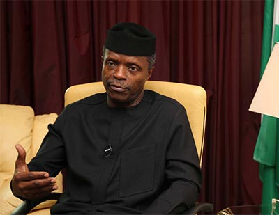 Image result for Nigeria open to more investment, says Osinbajo