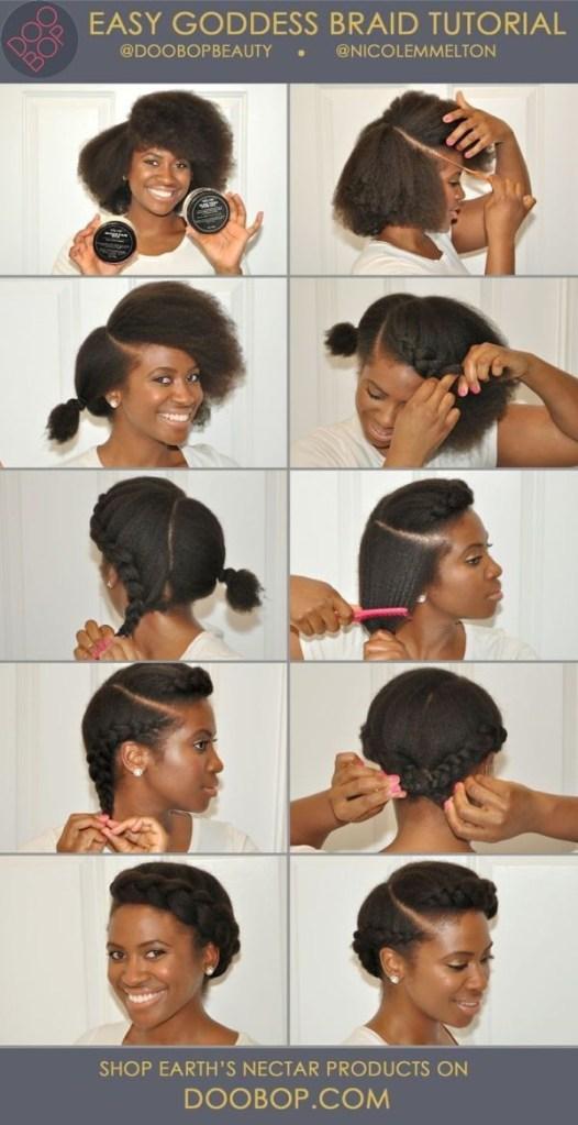 Easy diy natural hair styles 5