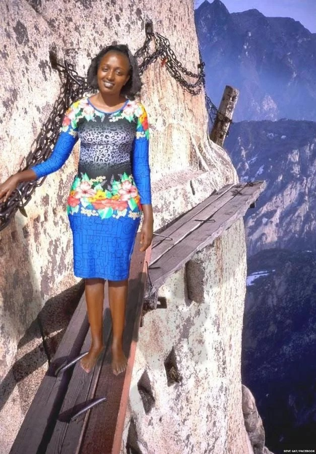 Kenyan Woman Photoshop Herself Into Holiday Photos With Hilarious Consequences