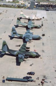 Ethiopian Air Force receives C-130E Hercules transport aircraft from the United States Government