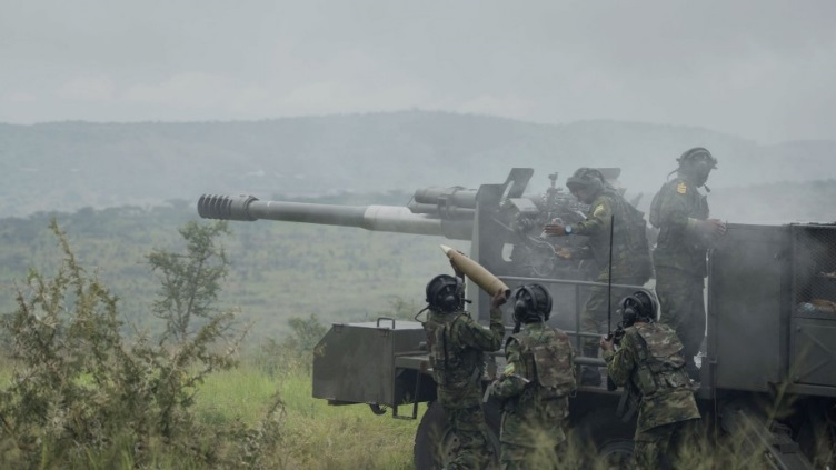 Rwandan soldiers are seen operating the CS SH1 during the exercise at Gabiro Source Paul Kagame