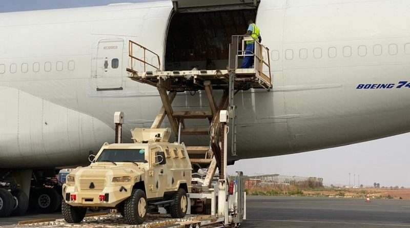 UAE donates Cougar 4x4 armoured vehicles to Mali