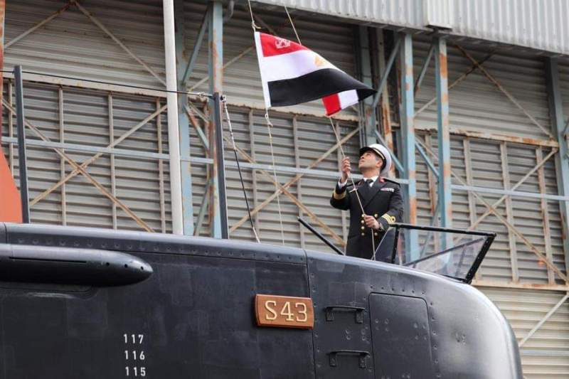 Egyptian Navy receives third Type 209 class submarine