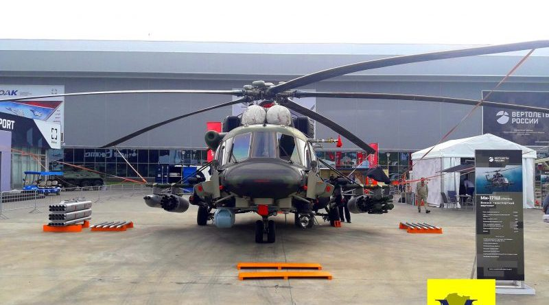 The export-oriented Mi-171Sh 'Storm' with enhanced protection and attack capabilities
