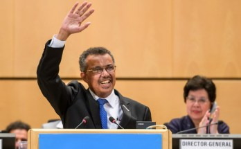 Director General of World Health Organisation Tedros Adhanom