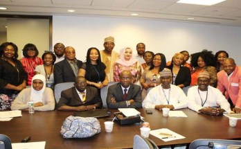 Participants shortly after the launch of CISLAC's SDG 16 shadow report/ US global office on the sidelines of the 72nd UN General Assembly on Friday, in New York, United States – Photo Credit CISLAC.