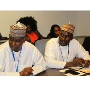 His Excellency, Permanent Representative of Nigeria to the United Nation, Proj. Tijani Muhammed-Bande with the Executive Director of CISLAC, Auwal Ibrahim Musa (Rafsanjani)