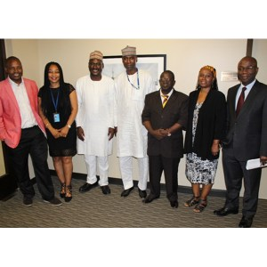 From right, Deputy PR of Nigeria to the UN, Amb. Sunday Itebode, Dr. Afia Zakiya et al