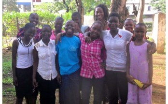 Onyinye Edeh with the 10 girls she met in Kenya during a summer trip to the country in 2012