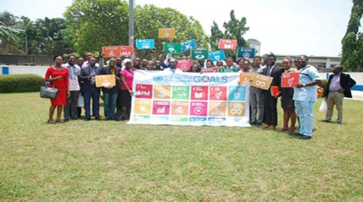 Members of the Nigerian Yiuth SDGs Network