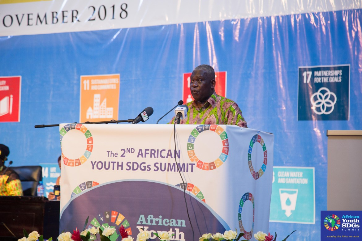 While delivering the keynote address on behalf of the President of the Republic of Ghana, His Excellency Nana Addo Dankwa Akufo-Addo – who is also Co-Chair of UN Secretary General`s Eminent Group of Advocates on the SDGs – Head of the SDG Advisory Unit of the Office of the Ghanaian President, Dr. Eugene Owusu,