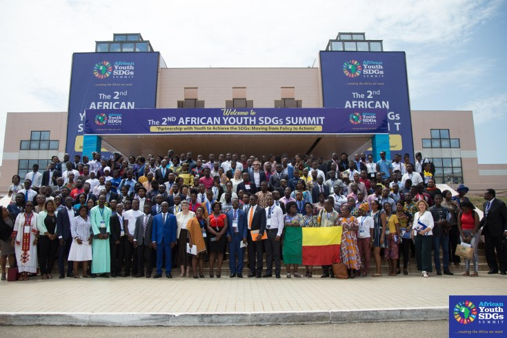 over 1500 African youths from across the continent and beyond gathered in Accra, the Ghanaian capital for the 2018 edition of the African Youth SDGs Summit;