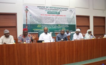 Members of the House Committee on Environment and Habitat during the public hearing on amendment of the Nigeria Biosafety Management Agency (NBMA) Act of 2015