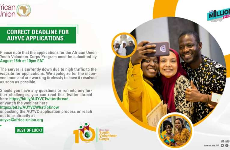 APPLY NOW! | African Union Youth Volunteer Corps (AU-YVC) 2020