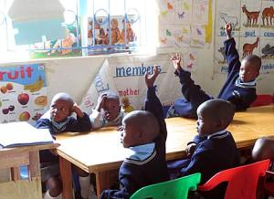 Young students at Kipkeino primary school in Kenya