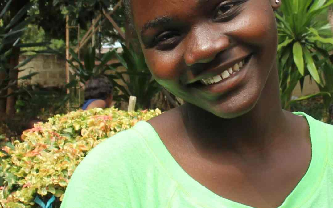 Young woman from orphanage in Zambia