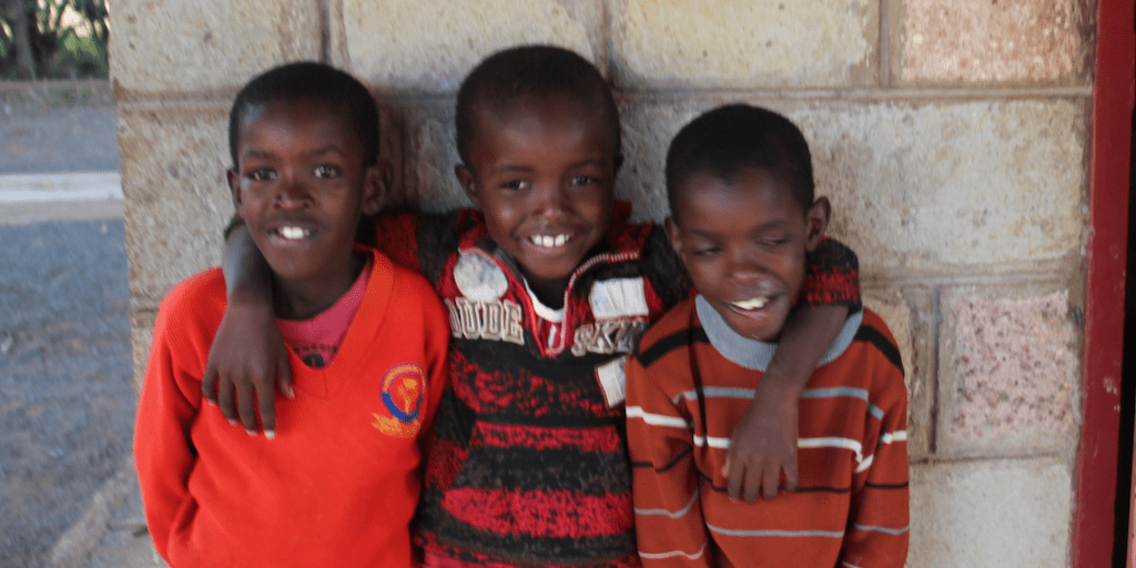 Three brothers in Kenya who were abandoned children