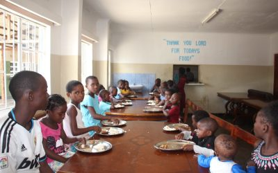 Working tirelessly to secure enough food for the children's Home in Zambia