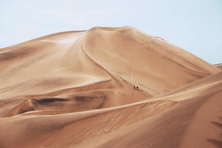 Desert soils moves due to Sandstorms