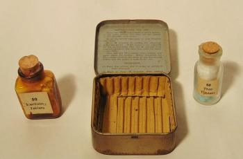 Water purification tablets for military in 1940s