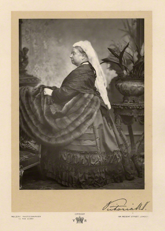 NPG x7261; Queen Victoria by Walery, published by  Sampson Low & Co