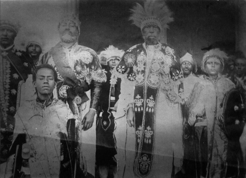 Menelik II & his court
