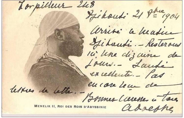 Menelik II roi d'Abyssinie