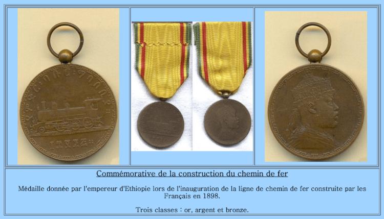 Médaille commémorative train