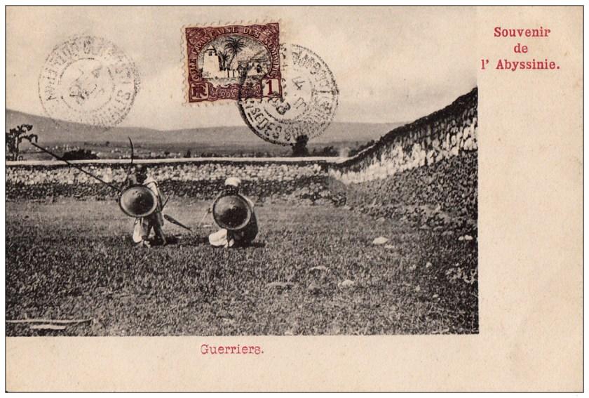 Souvenir-Abyssinie-Guerriers
