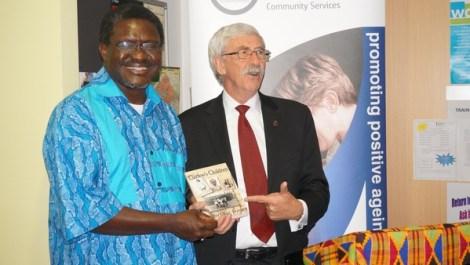 Kabu Okai-Davies with John Hargreaves at the launch of Curfew's Children