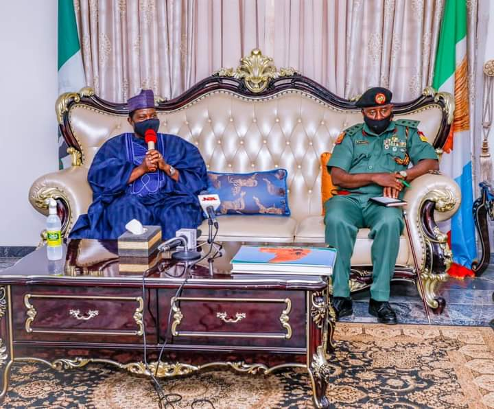 Ag. GOC 3rd Armoured Div. Assures Gov. Lalong Of Security, Peace