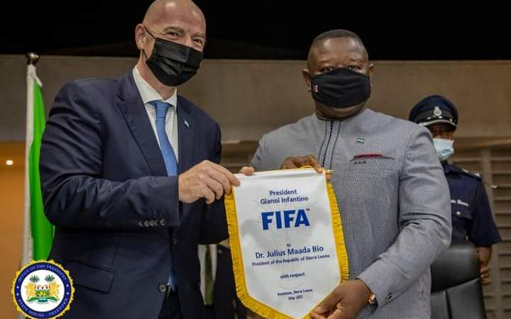 Football A Uniting Force In Serra Leone —Bio Tells FIFA, CAF Presidents